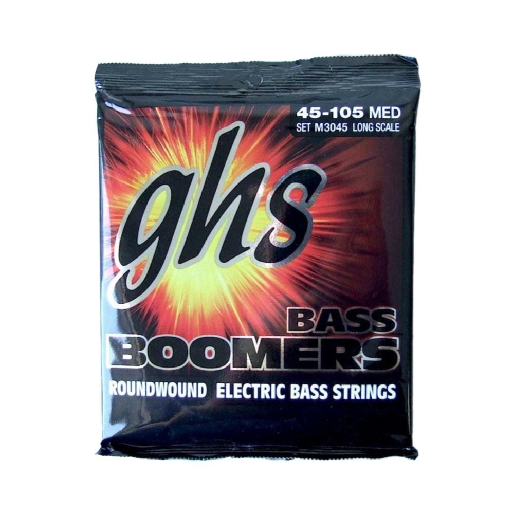 ガス ミディアムゲージ 爆買い新作 エレキベース弦 45-105 Bass 定価 Boomers GHS M3045