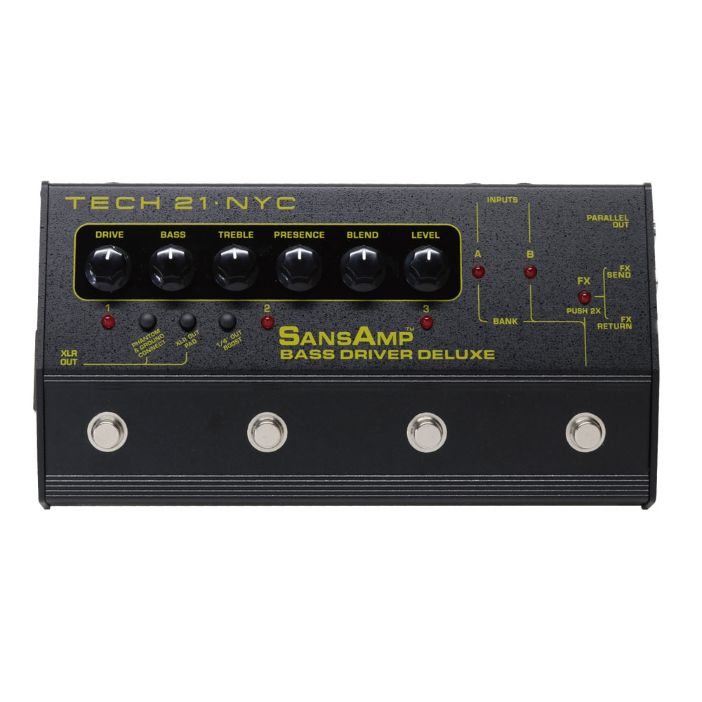 SANSAMP/Tech21 BASS DRIVER DELUXE ベースエフェクター