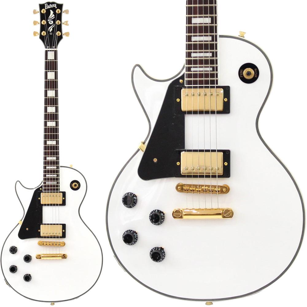 BURNY RLC-55 左利き用 スノーホワイト エレキギター