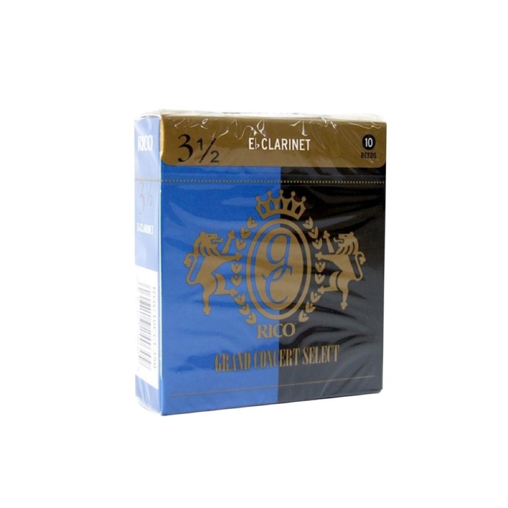 リコ 高い素材 Sクラ用リード 3 1 人気 おすすめ 2 D'Addario Woodwinds 3.5 LRICGCECL3.5 E♭クラリネットリード RICO グランドコンサートセレクト
