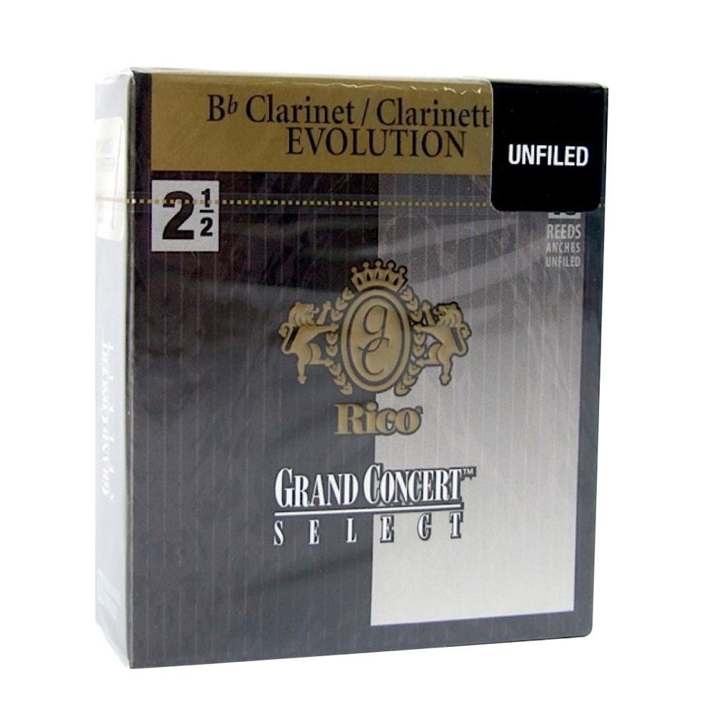 EVOLUTION 2 1 アンファイルドカット D'Addario Woodwinds 2.5 永遠の定番モデル B♭クラリネットリード RICO LRICGEUCL2.5 予約販売品 グランドコンサートセレクト エボリューション