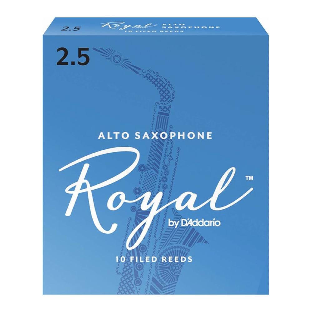 安い RICO Royal 2 1 D'Addario Woodwinds アルトサックスリード リコ 送料込 LRICRYAS2.5 2.5 ロイヤル
