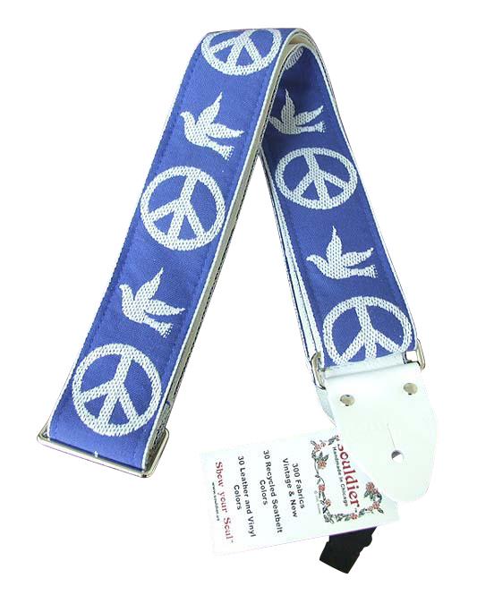 Souldier Ace Replica straps NY Peace Dove/Blue ギターストラップ