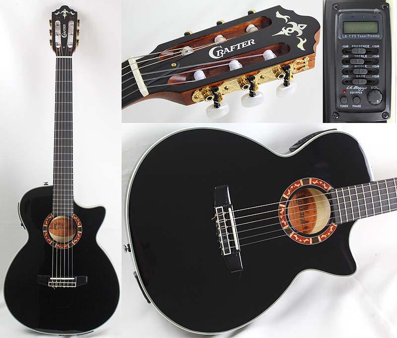 CRAFTER CTS-155C BK エレクトリッククラシックギター