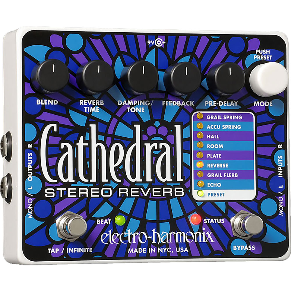 ELECTRO-HARMONIX CATHEDRAL リバーブ 正規輸入品
