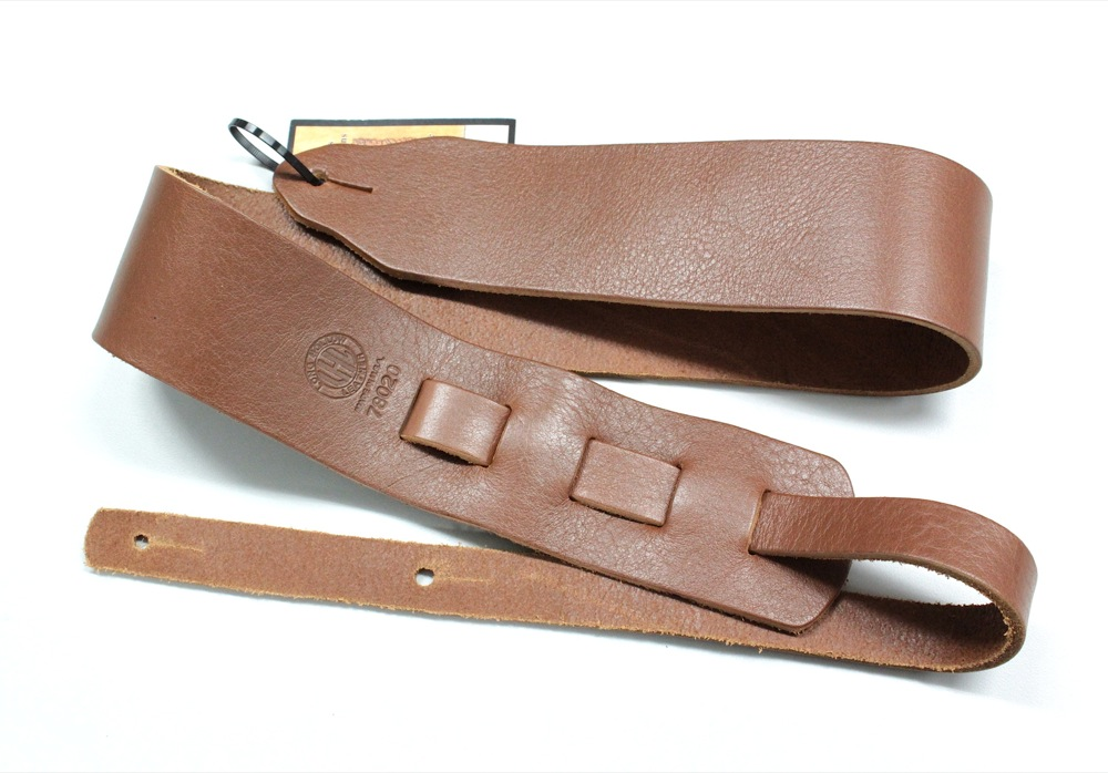 LONG HOLLOW LEATHER #78020 Brown ギターストラップ