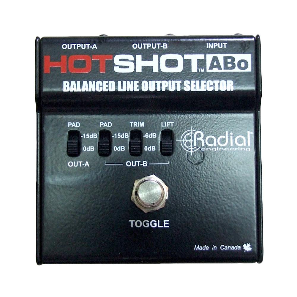 ラジアル ラディアル 2つのアウトプットを足下で切替 RADIAL 早割クーポン ABo HotShot 正規認証品!新規格 ラインアウトプットセレクター