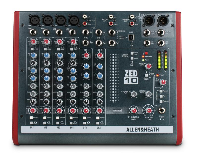 ALLEN&HEATH ZED-10 ミキサー (ZED1002/X)
