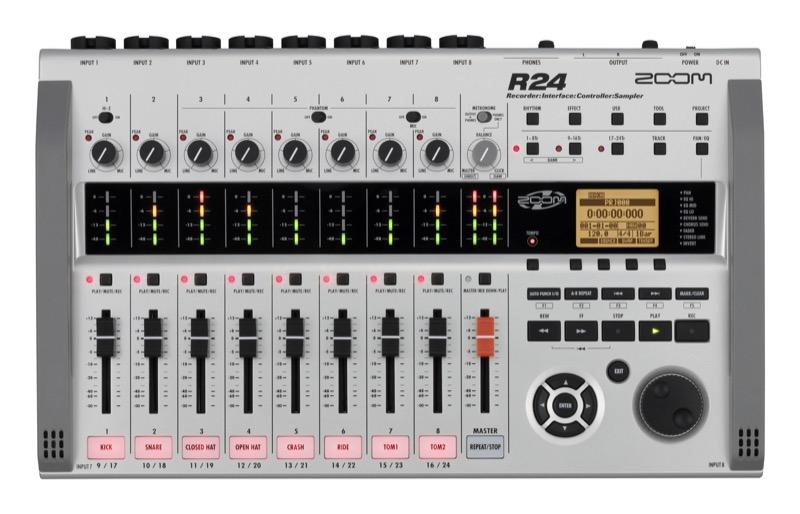 ZOOM R24 24トラックレコーダー オーディオインターフェイス