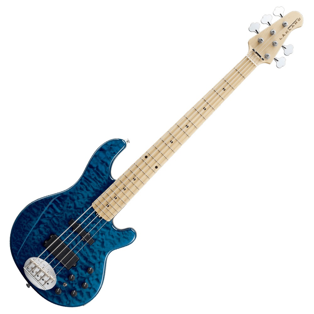 LAKLAND SK-5DX Blue Translucent Maple FB エレキベース