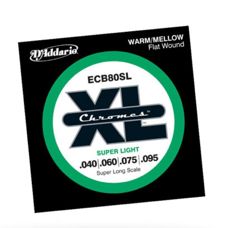 D'Addario ECB80SL フラットワウンド エレキベース弦