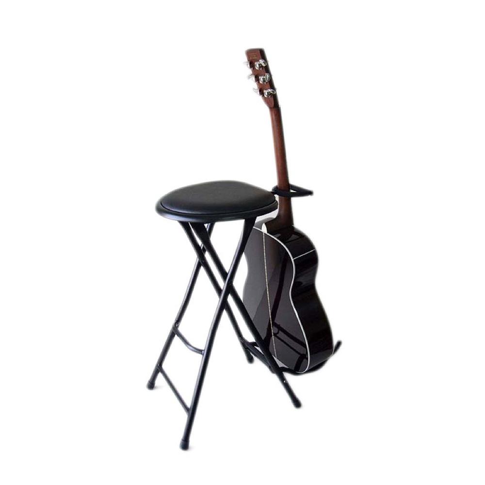 KIKUTANI TFLC-006 弾き語り用椅子 ギタースタンド一体型