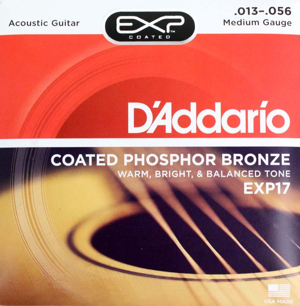 ダダリオ フォスファーブロンズコーティングアコギ弦 13-56 D'Addario EXP17 送料無料お手入れ要らず Coated Medium Phosphor アコースティックギター弦 Bronze オーバーのアイテム取扱☆