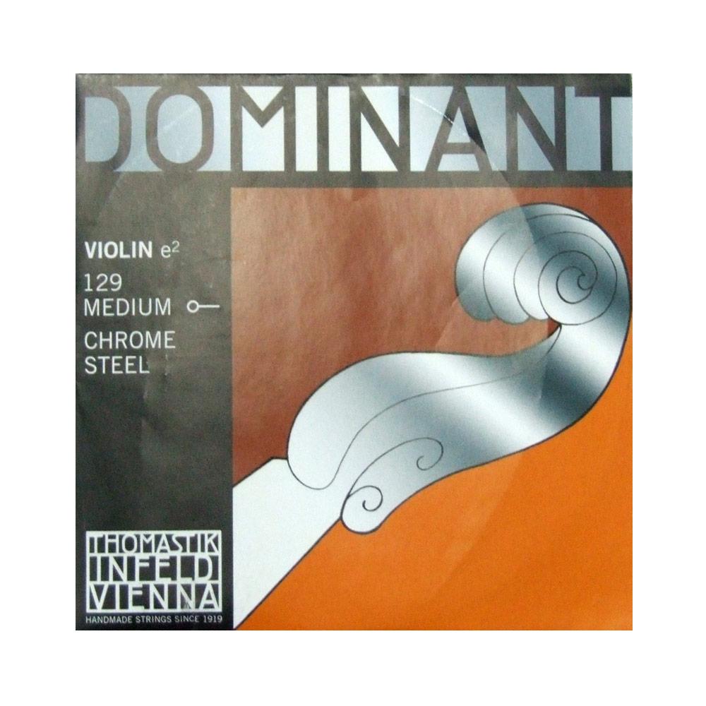 ドミナントバイオリン弦 E線バラ弦 Steel Ball end 新品 Thomastik Dominant E線 No.129 ループ兼用エンド バイオリン弦 スチール ボール オンラインショッピング ドミナント