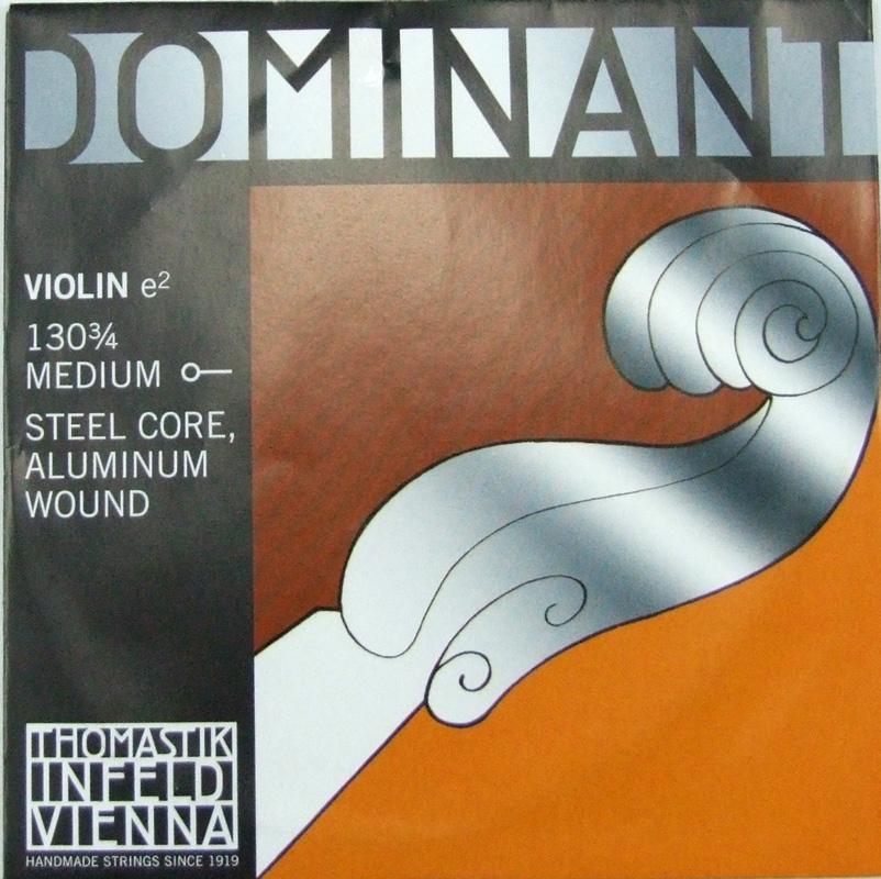 ドミナント3 4分数バイオリン用弦 E線バラ弦 スチール アルミ巻 Thomastik 早割クーポン Dominant ボールエンド E線 4 ついに入荷 バイオリン弦 No.130 3 ドミナント