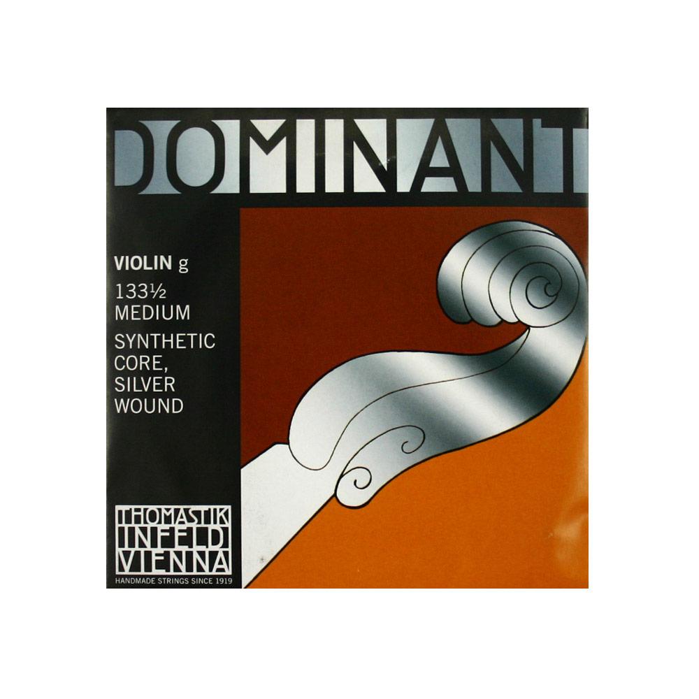 ドミナント1/2分数バイオリン弦 G線バラ弦 ナイロン・シルバー巻 Thomastik Dominant No.133 1/2 G線 ドミナント バイオリン弦