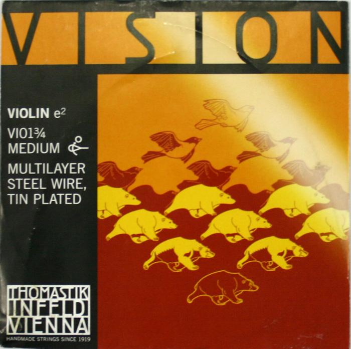 ヴィジョン 3 捧呈 4分数バイオリン用 E線弦 Thomastik VISION 舗 ビジョン 4 バイオリン弦 E線 VI01