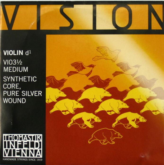 ヴィジョン 1 2分数バイオリン用 D線弦 Thomastik VISION ビジョン 2020秋冬新作 VI03 バイオリン弦 D線 ハイクオリティ 2