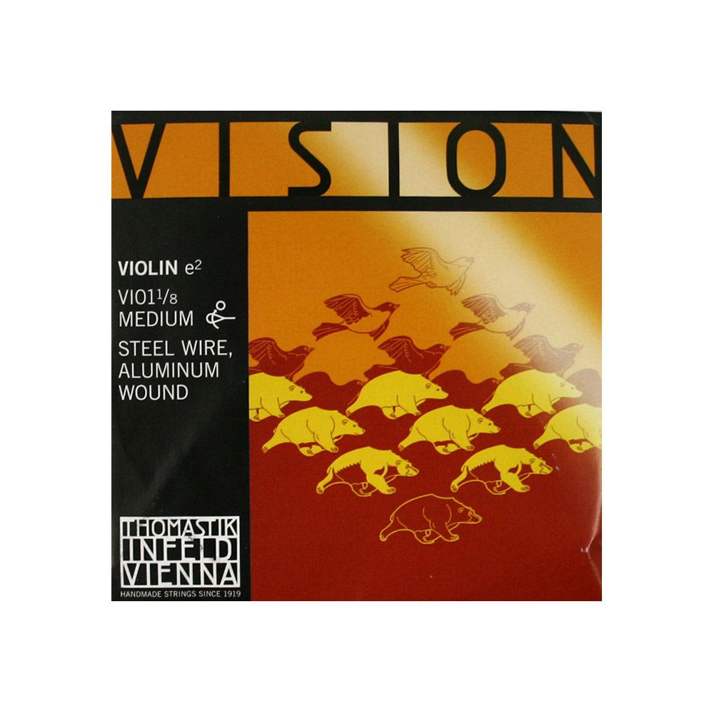 ヴィジョン サービス 1 8分数バイオリン用 E線弦 Thomastik VISION VI01 ビジョン バイオリン弦 驚きの価格が実現 E線 8