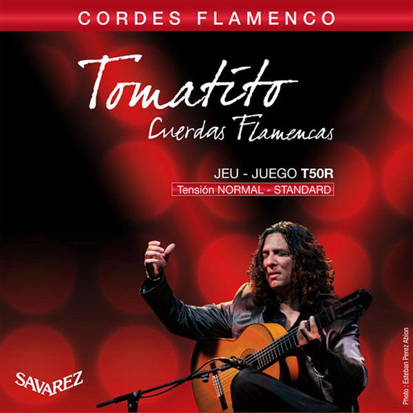 トマティート共同開発フラメンコギター弦 ノーマルテンション SAVAREZ T50R フラメンコギター弦 NORMAL SET 新品 送料無料 TENSION ※アウトレット品