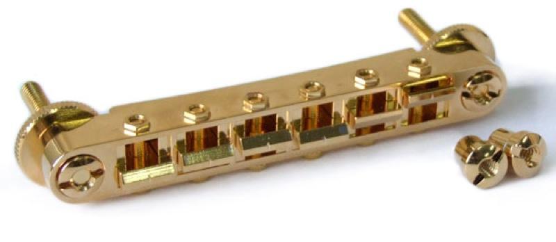Freedom Custom Guitar Research SP-B-03G Lockable Bridge Brass Saddle Gold ギター用ブリッジ