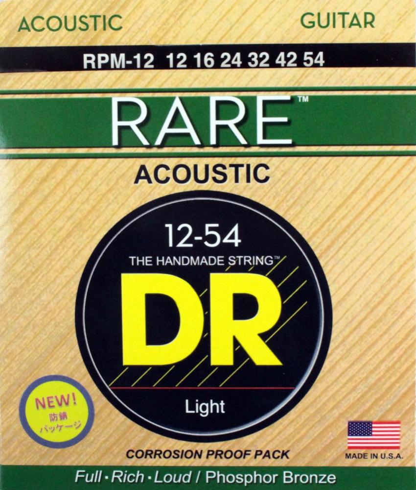 DR 新色追加して再販 ヘックスコア フォスファーブロンズ アコギ弦 レア アコースティックギター弦 新作通販 RARE RPM-12 Medium