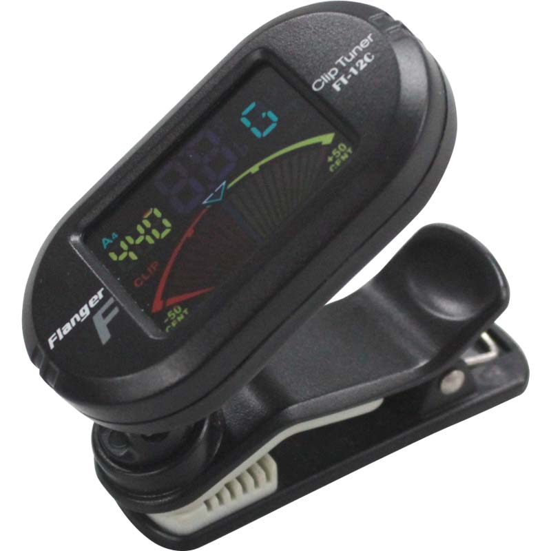 FLANGER FT-12C CLIP-ON CHROMATIC TUNER WITH COLOR DISPLAY