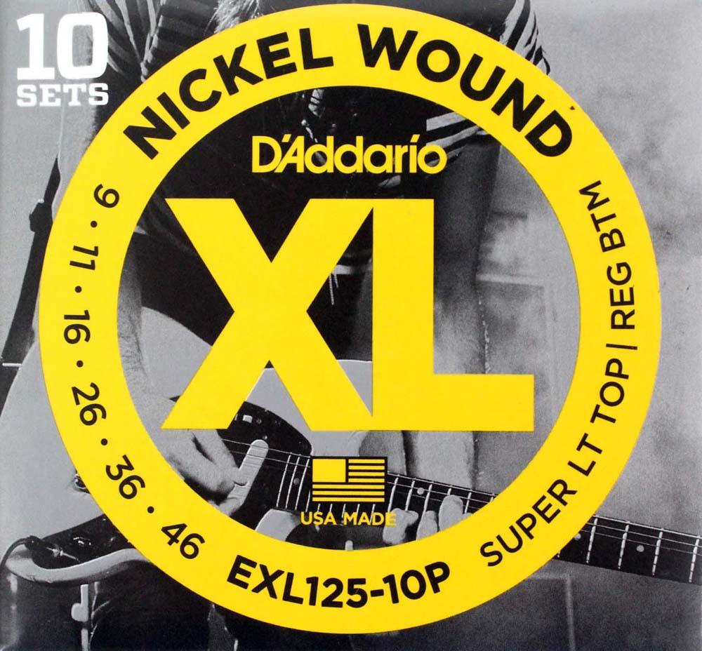 D'Addario EXL125-10P 10セットパック エレキギター弦