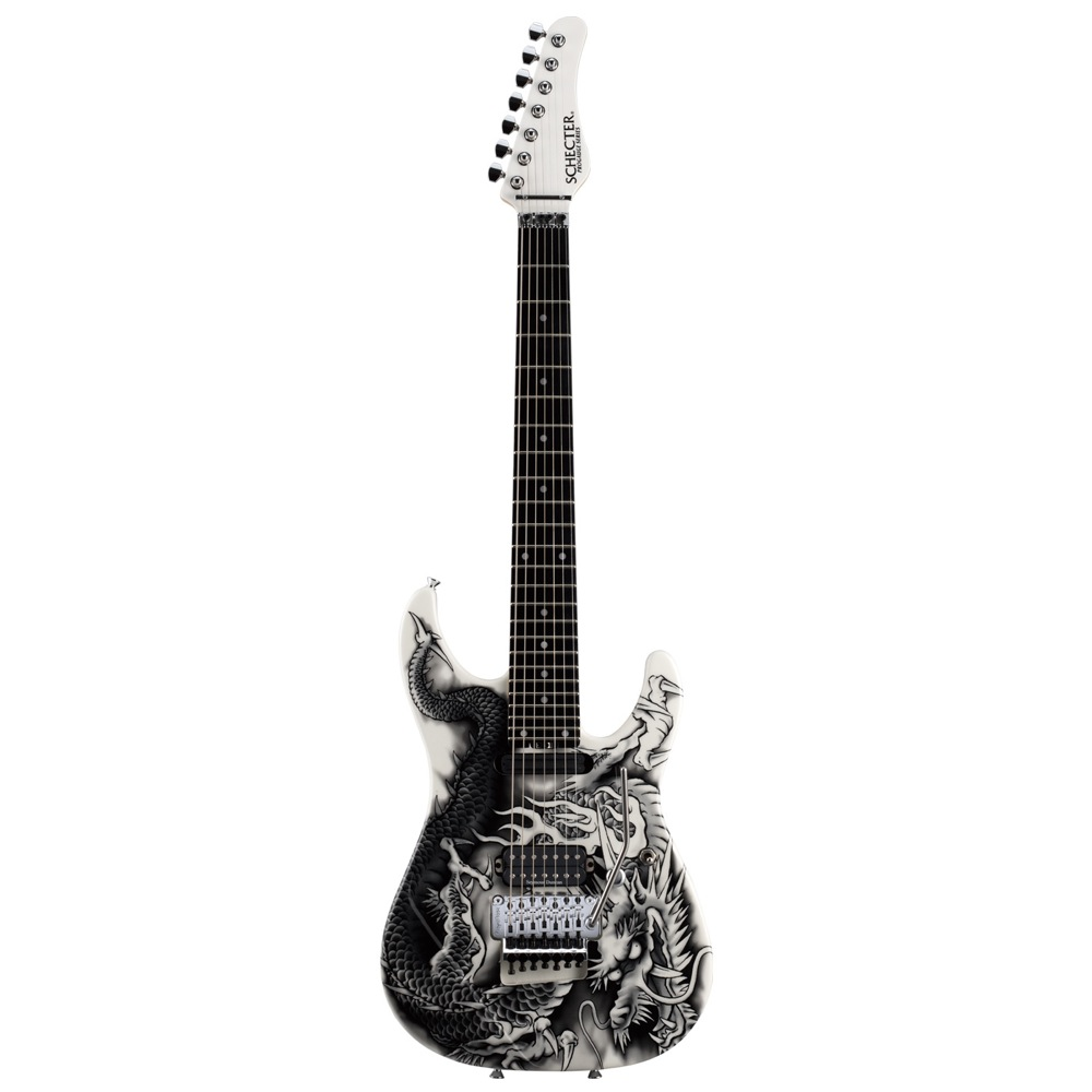 SCHECTER PA-ZK-T7 WHT/Original Dragon Graphic 小林信一モデル 7弦エレキギター