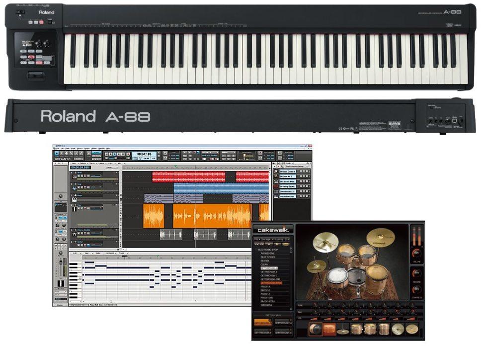ROLAND A-88 MIDIキーボードコントローラー