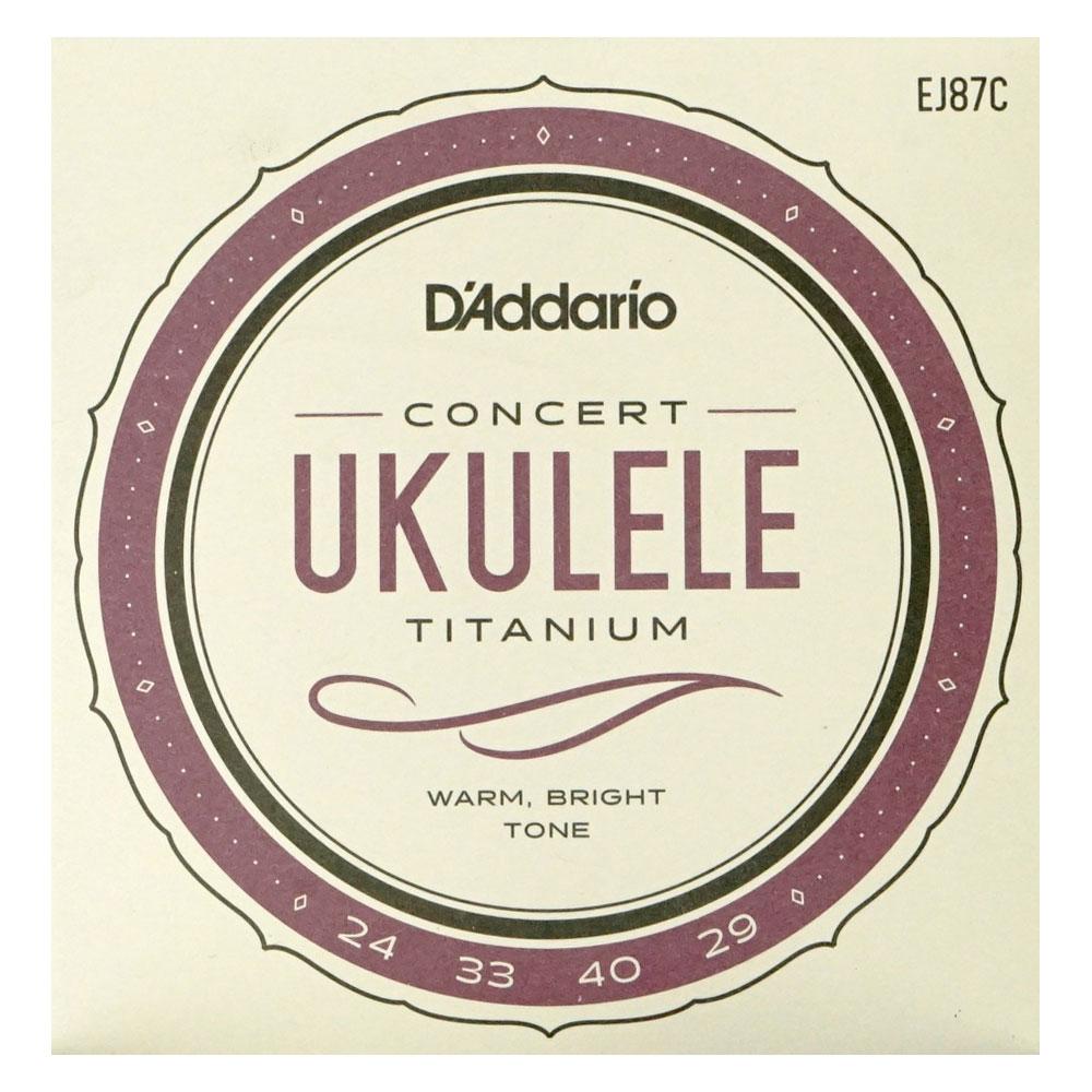 ダダリオ チタニウムシリーズ コンサートウクレレ弦 D'Addario EJ87C Titanium Ukulele コンサートウクレレ用セット弦
