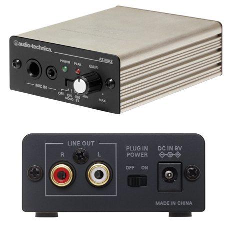 割引も実施中 マイクロホン端子のないAV機器でマイク収音 拡声が可能 AUDIO-TECHNICA おしゃれ AT-MA2 マイクロホンアンプ