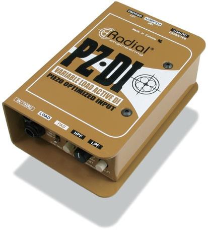 RADIAL PZ-DI ピエゾピックアップ用 DIボックス