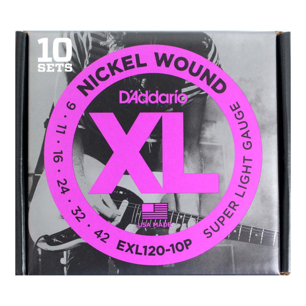 ダダリオ ☆最安値に挑戦 エレキギター弦 ハイクオリティ 10セットパック EXL120-10P 09-42 D'Addario