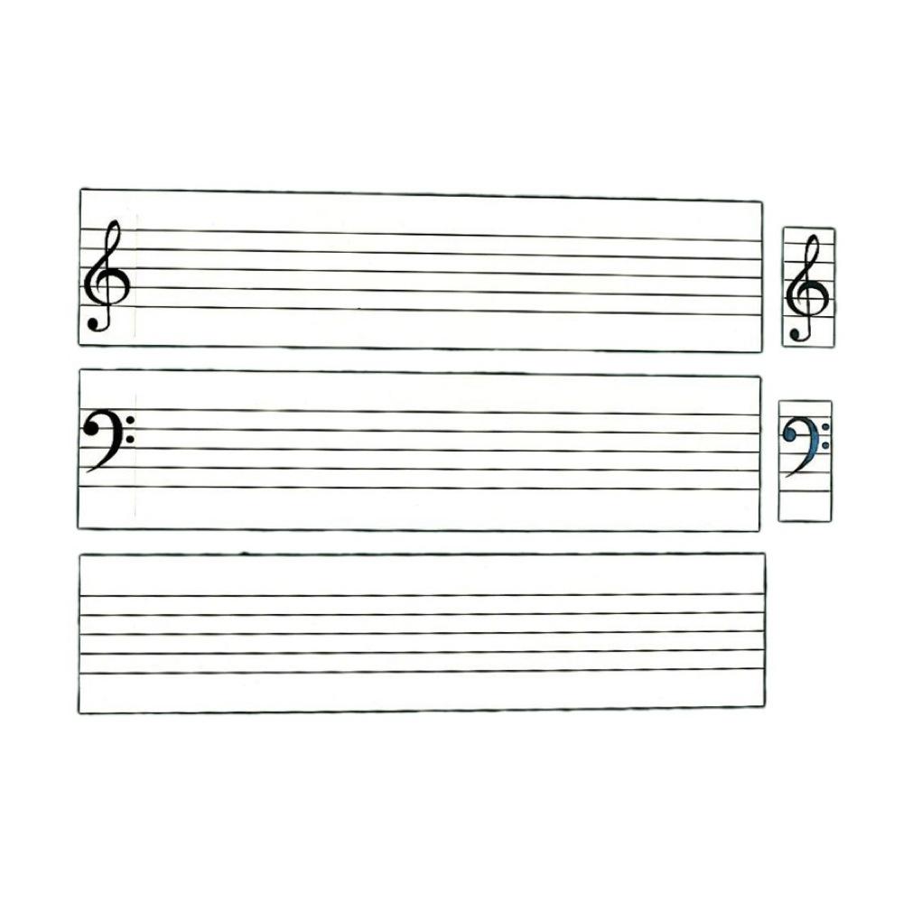 全音 ZMM-6 五線譜白板マグネットシート帯