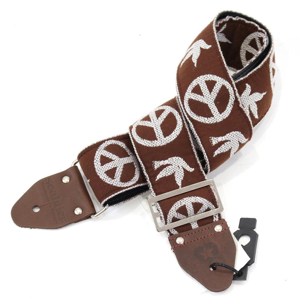 Souldier Ace Replica straps NY Peace Dove Brown ギターストラップ