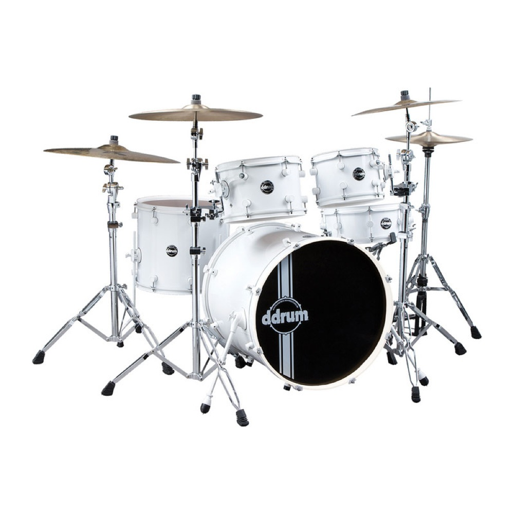 ddrum Reflex Standard WHT/WHT Kit 5pc SP 22 ドラムセット
