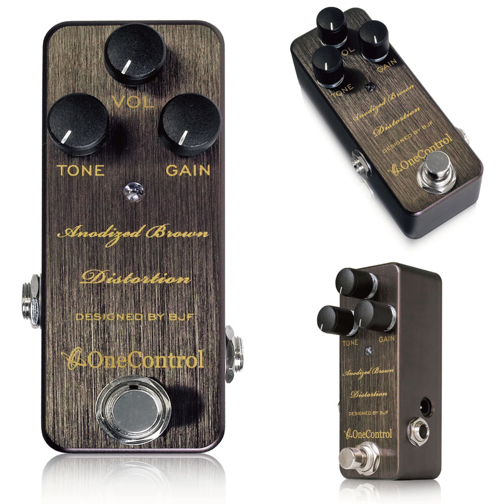 One Control Anodized Brown Distortion ギターエフェクター