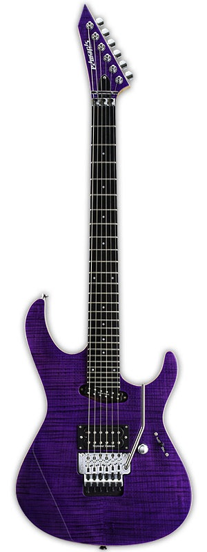 EDWARDS E-MV-125FR See Thru Purple エレキギター