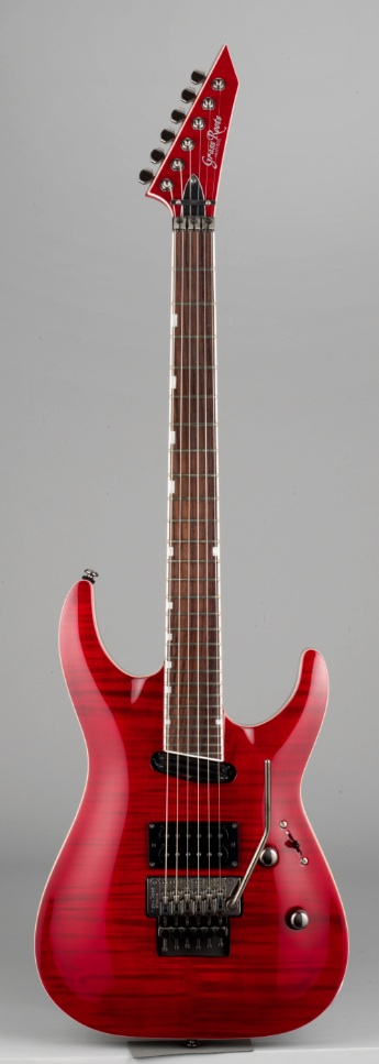 GrassRoots G-HR-65FR See Thru Red エレキギター