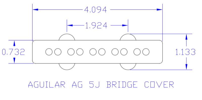 AGUILAR AG 5J-60 SET 5 현 베이스 픽업 2 개 세트