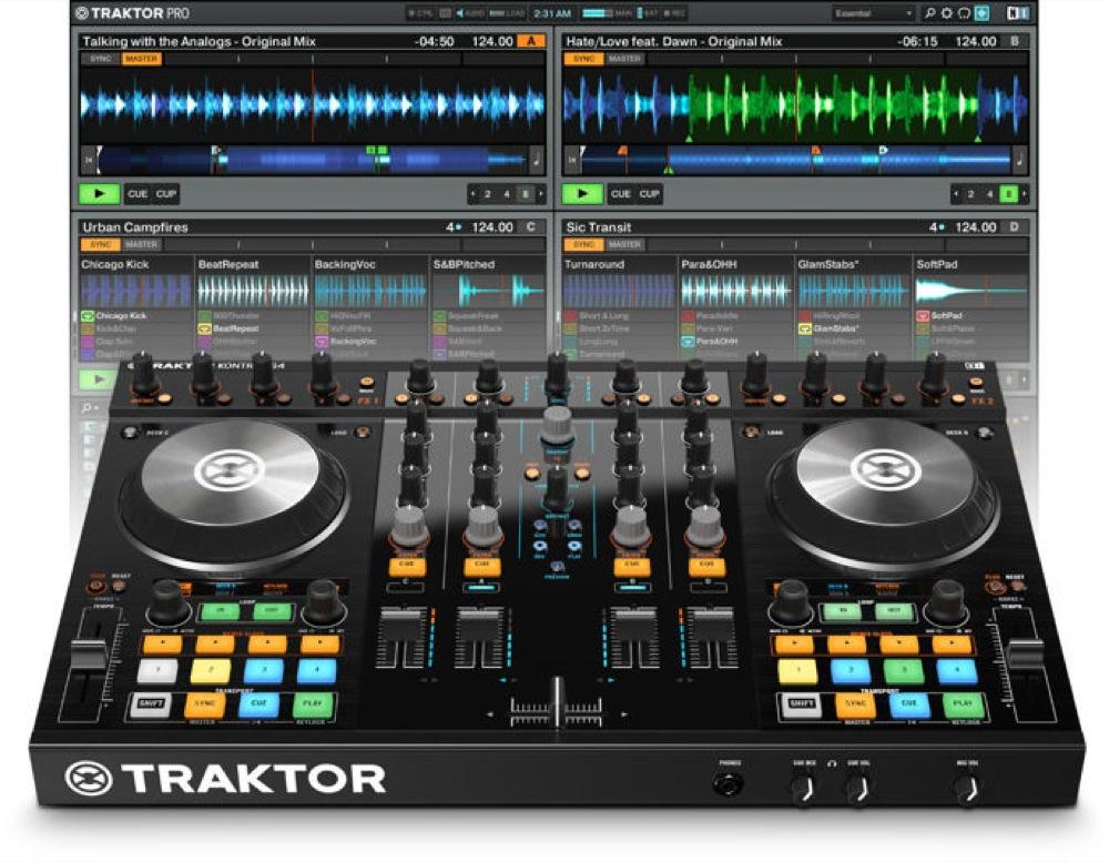 NATIVE INSTRUMENTS TRAKTOR KONTROL S4 MK2 DJコントローラー