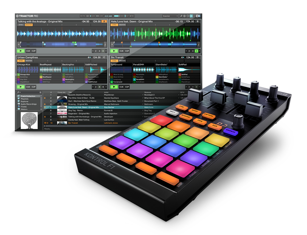 NATIVE INSTRUMENTS TRAKTOR KONTROL F1 DJコントローラー
