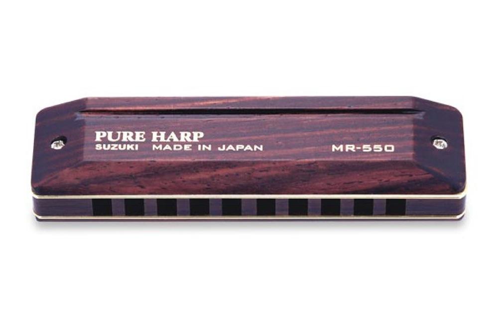 SUZUKI MR-550 F PURE HARP 10穴ハーモニカ