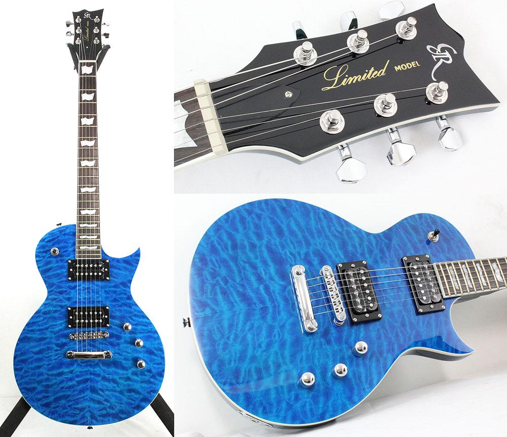 GrassRoots GR-EC/QM See Thru Blue エレキギター