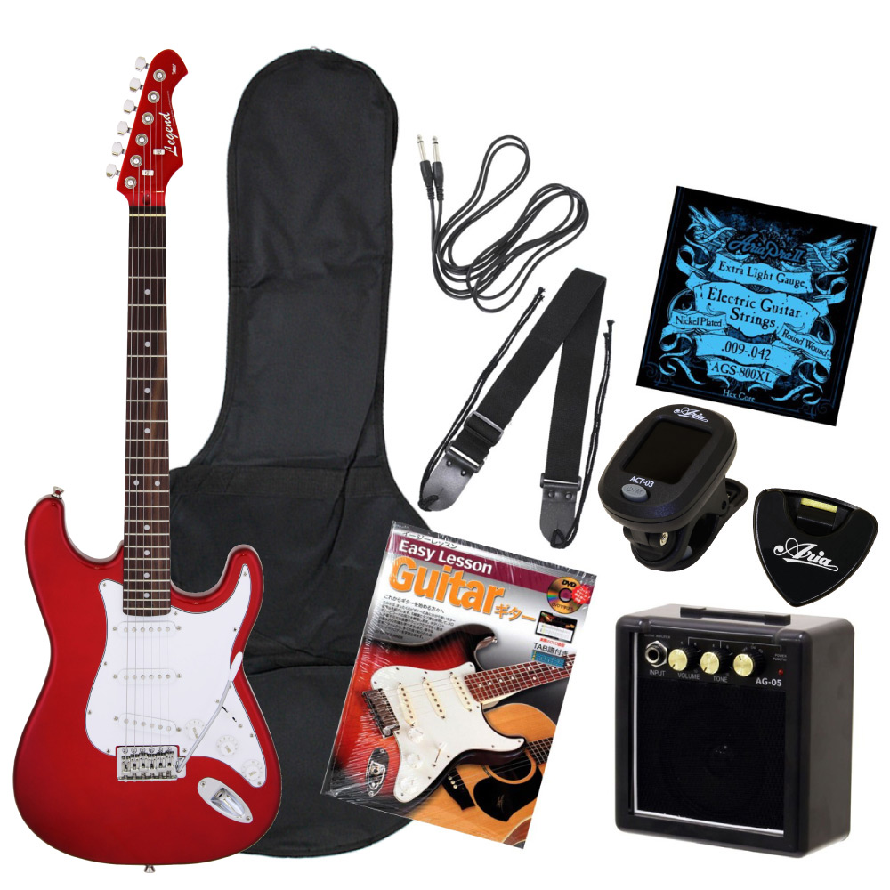 LEGEND LST-Z CACA ミニアンプ付きエレキギター初心者向け入門セット