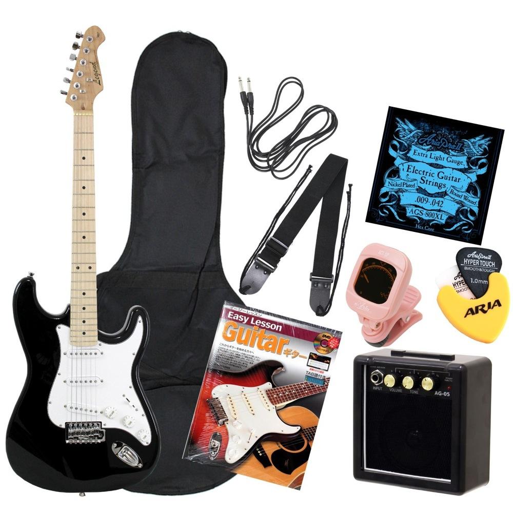 LEGEND LST-Z M BK ミニアンプ付きエレキギター初心者向け入門セット