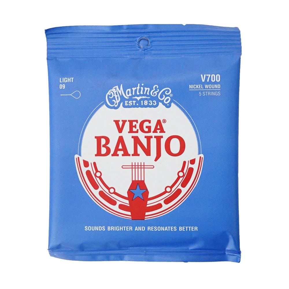 ブランド品 誕生日/お祝い マーチン バンジョー弦 ニッケルワウンド ライト MARTIN Banjo Light Wound V700 Nickel