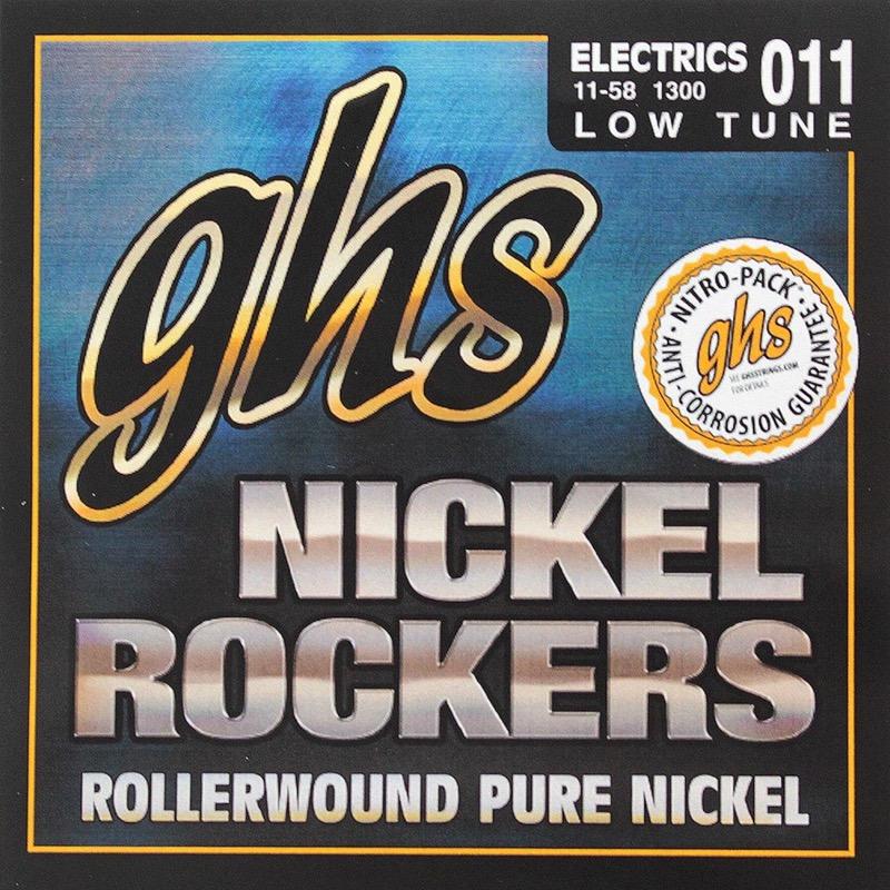 GHS Nickel Rockers 1300 Low Tuned Set 11-58 エレキギター弦×12SET