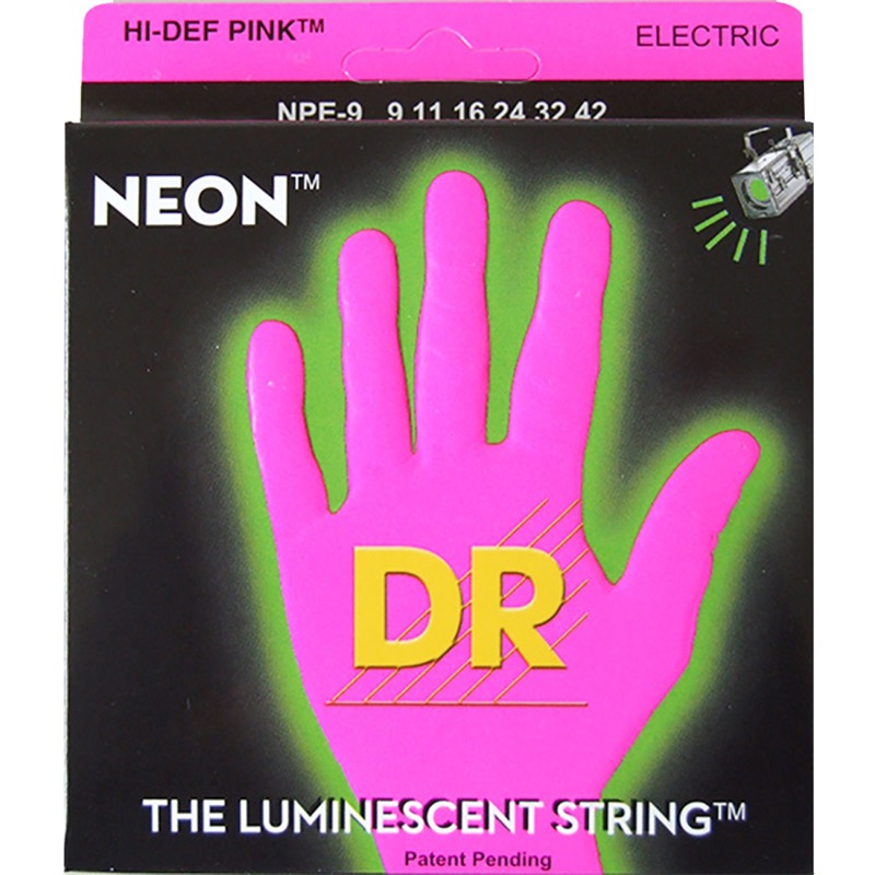DR NEON PINK DR-NPE9 Lite エレキギター弦×6セット
